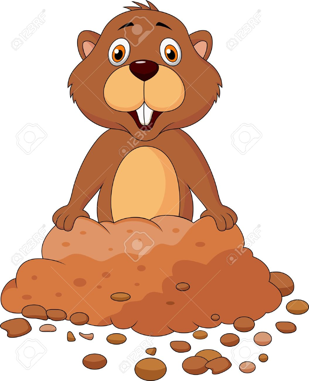 Groundhog clipart 7 » Clipart Station.