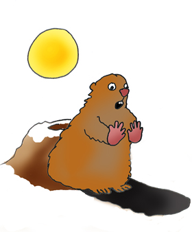 Groundhog shadow clipart 3 » Clipart Station.