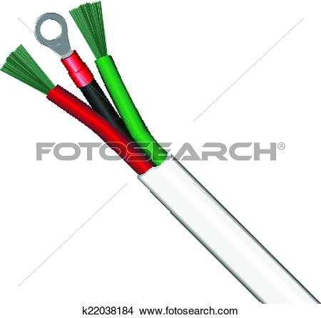 Clipart of Cable grounding k22038184.
