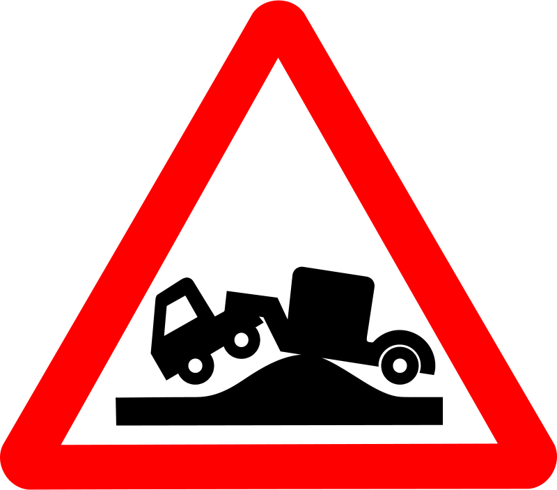 Free Clipart: Roadsign grounded.