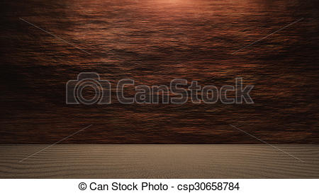 Stock Illustration of Rock wall background with ground level.