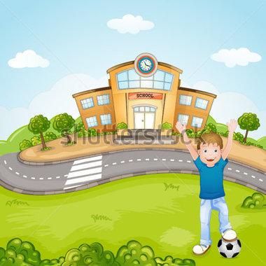 School grounds clipart.