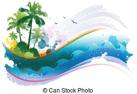 Free tropical screensavers and clipart.