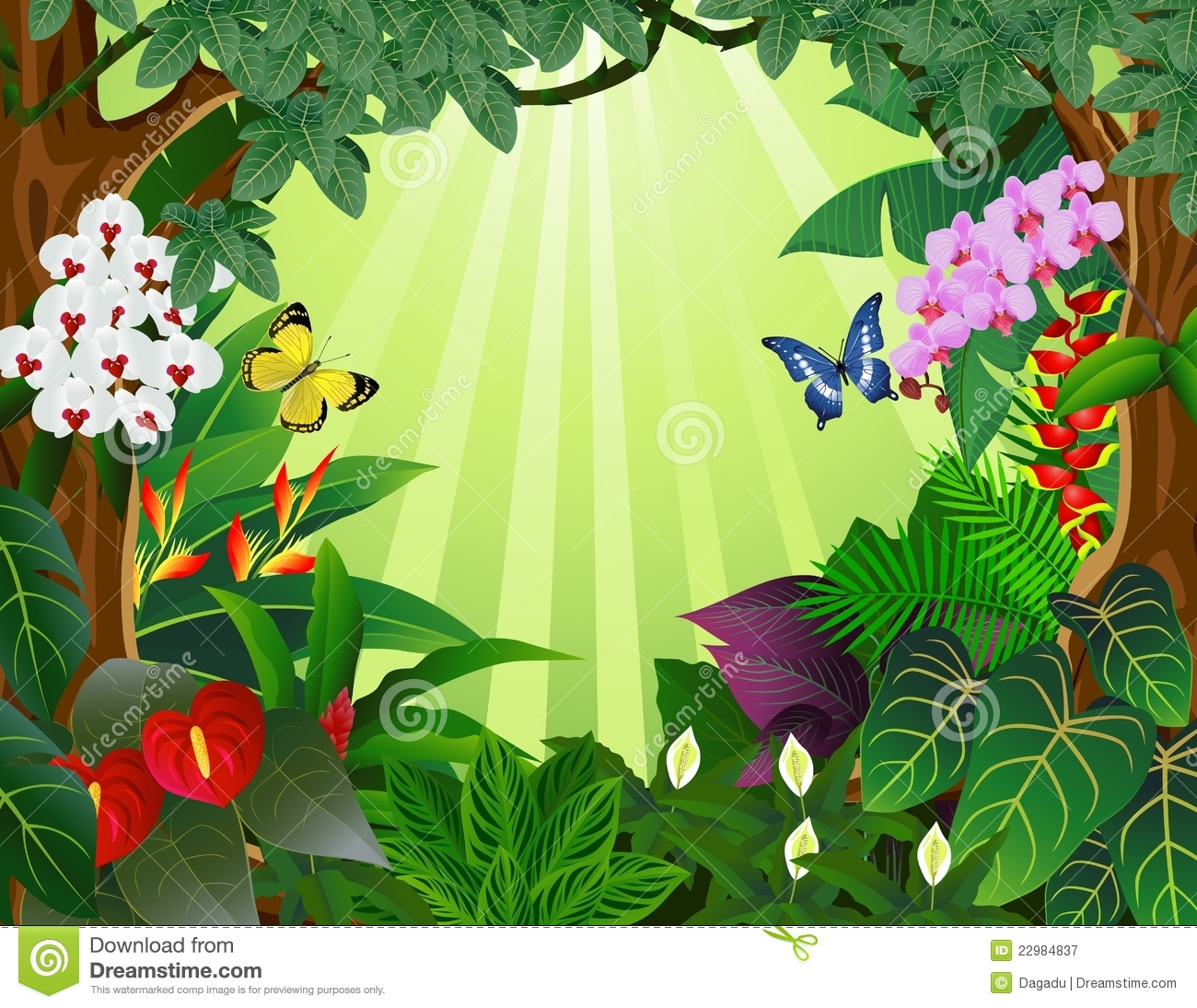 Forest Background Clipart.