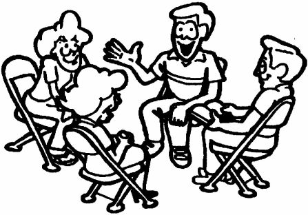 Group Discussion Clipart Black And White.