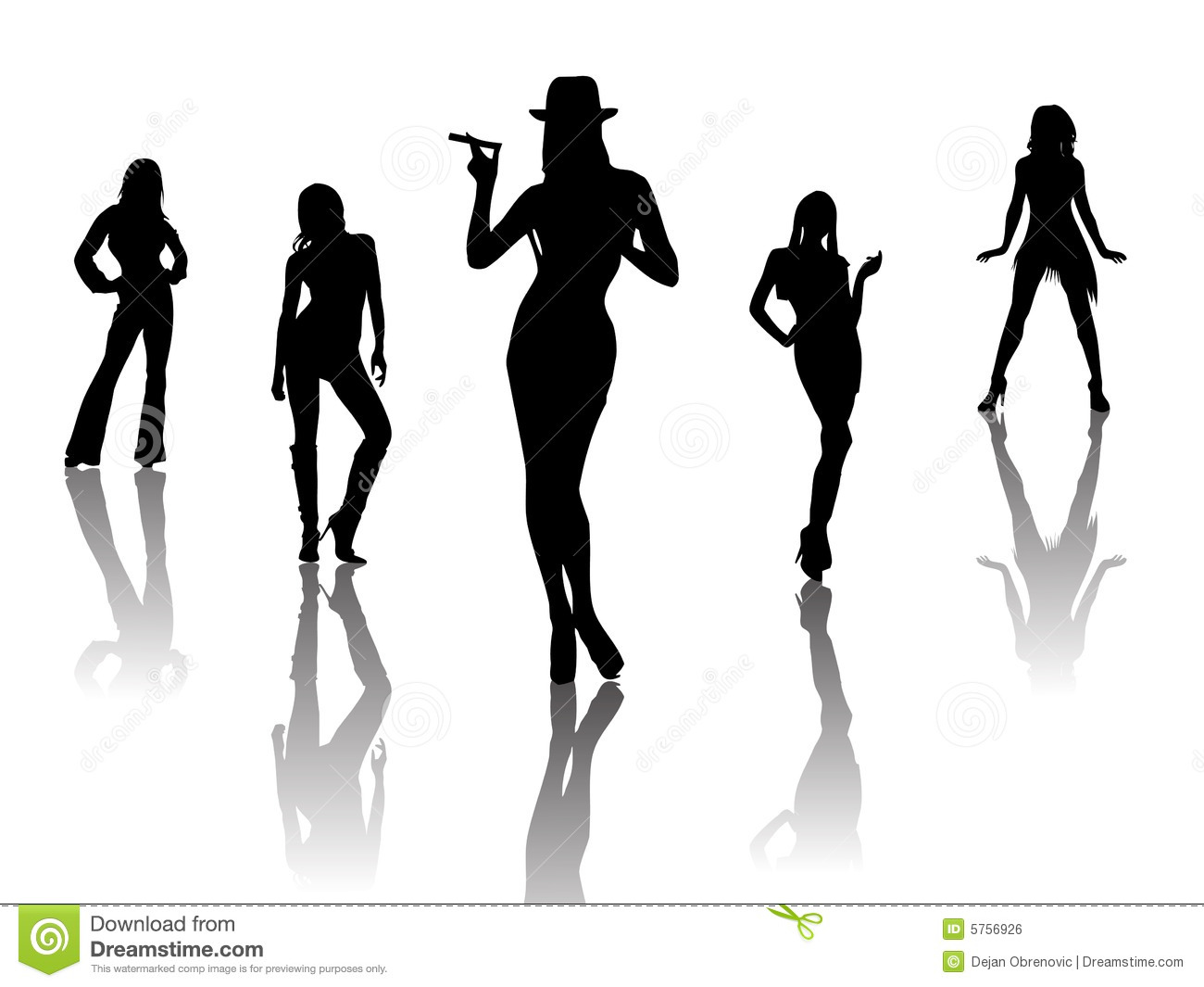 Sexy Dancers Clipart.