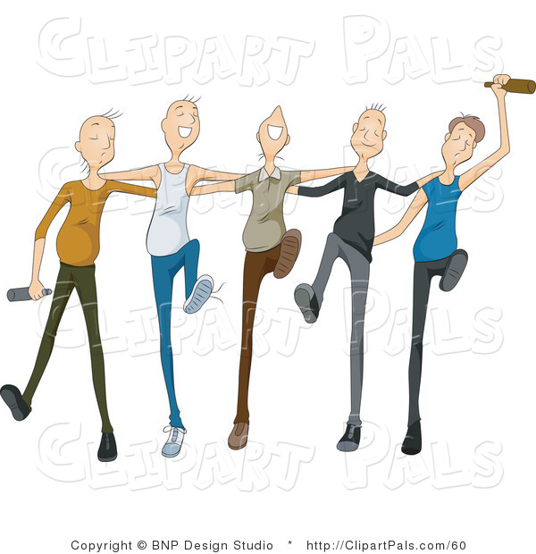 Group Drunk Man Clipart.