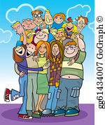 Group Hug Clip Art.