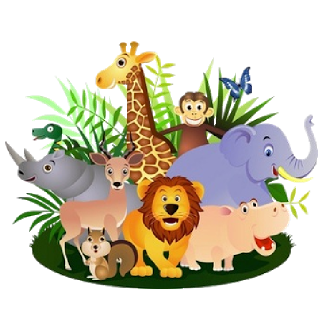 Clipart group of animals.
