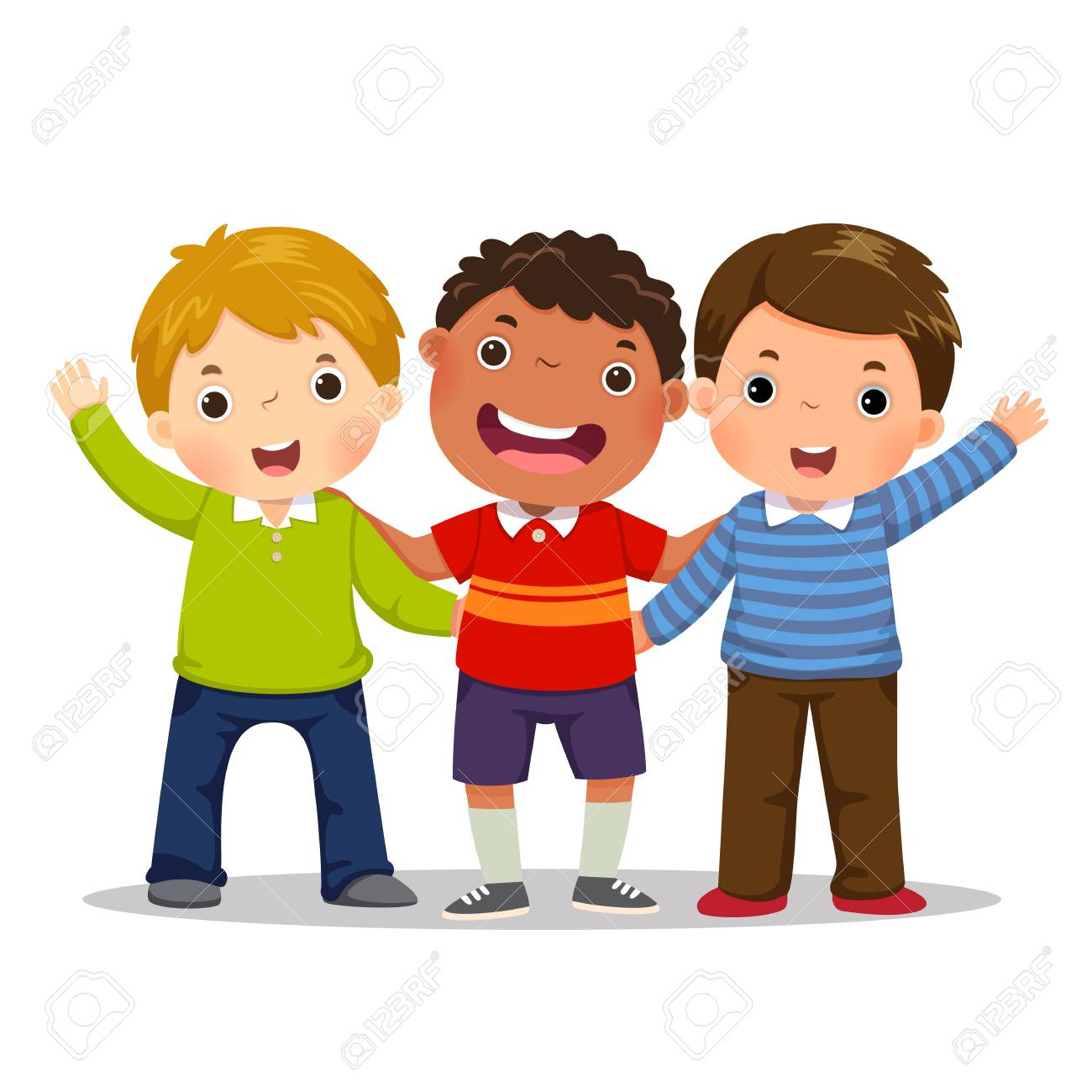 group of boys clipart #7