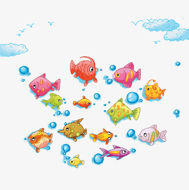 A Group Of Cute Fish, Cute Clipart, Fish #472033.