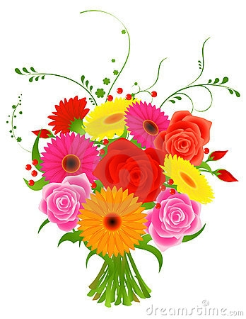 Group Of Flowers Clipart.