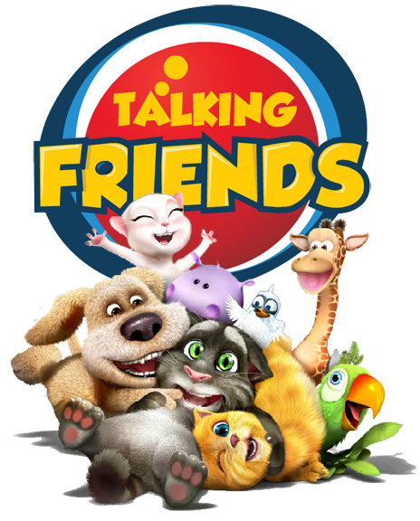 Talking Friends Group Clipart.