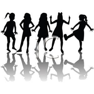 clip art of girl groups.