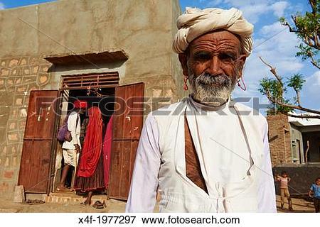 Picture of India, Rajasthan, Meda village around Jodhpur, Rabari.