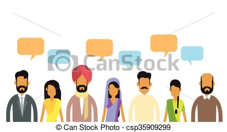 Indian people clipart.
