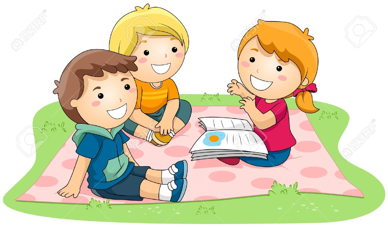 group of kids reading clipart clipground Reading Books Clip Art Animals Reading