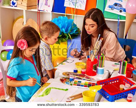 Kindergarten Stock Images, Royalty.