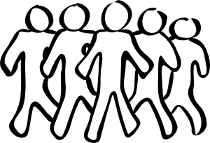 Clipart People Black And White.