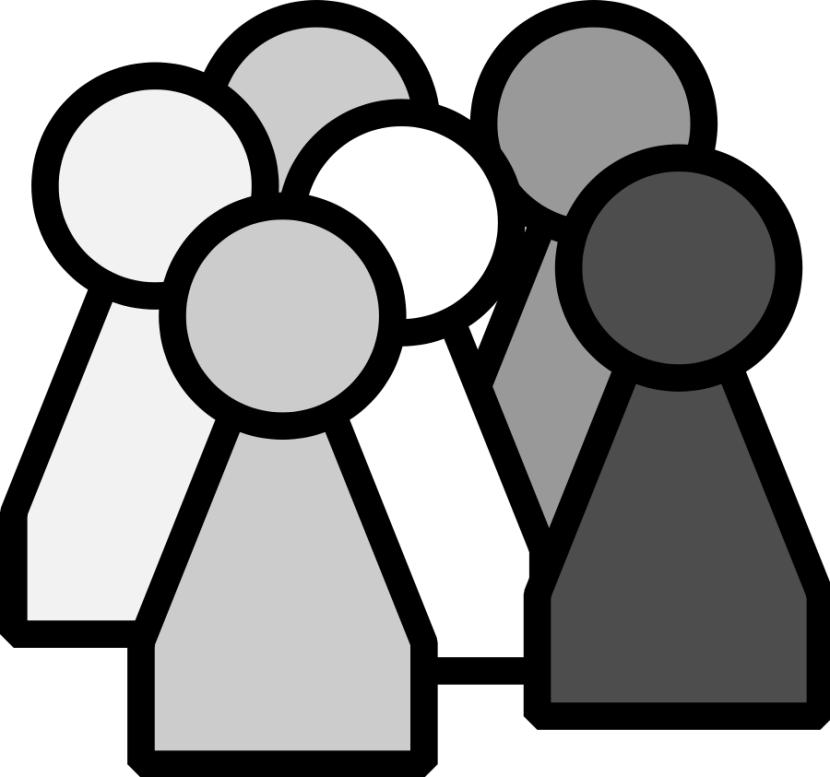 Group of people clipart white.