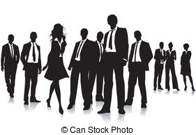 Group of business people clipart.