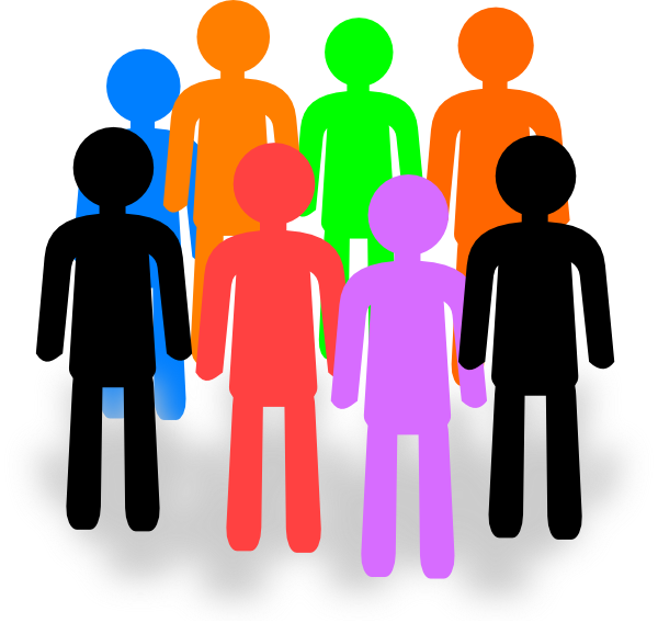Group of people web design clipart png.