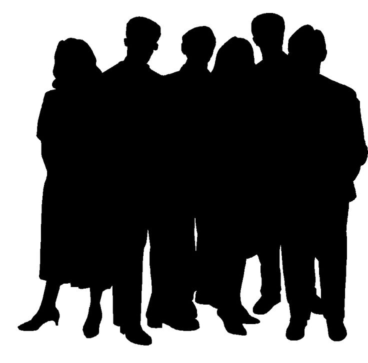 Group of people clipart black and white 3 » Clipart Station.