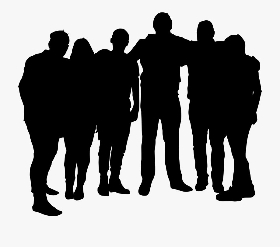 Clipart Black And White Stock Group Silhouette At.