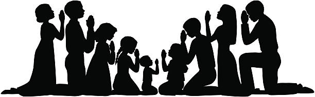 group of people praying clipart - Clipground