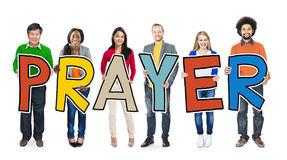 Prayer Group Children Praying Stock Images.