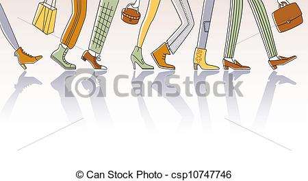 EPS Vector of Walking people.