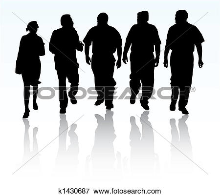 Clip Art of Group of business people k1430687.