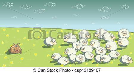 Flock sheep Vector Clip Art EPS Images. 416 Flock sheep clipart.