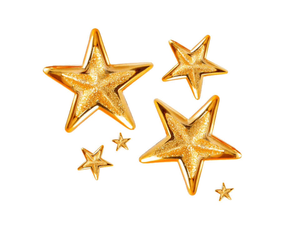 Group Of Christmas Stars transparent PNG.