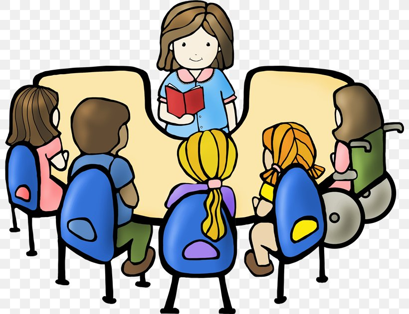 Student Reading Book Discussion Club Clip Art, PNG.