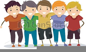 Free Clipart Teen Group.