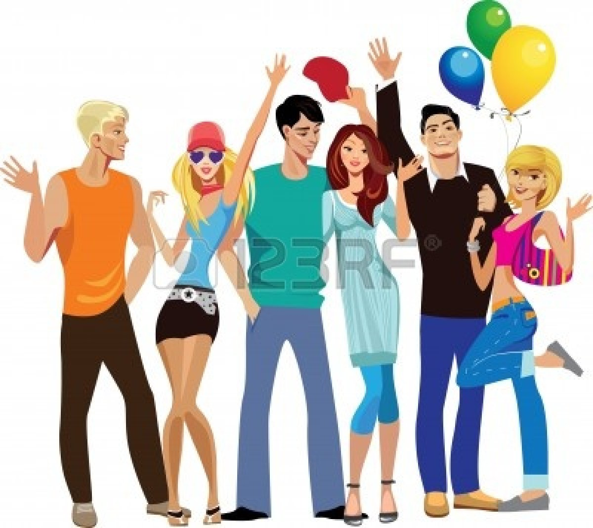 26034 Group free clipart.