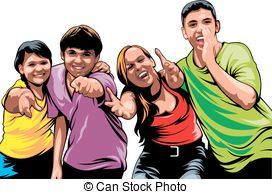 Group of young people clipart » Clipart Station.
