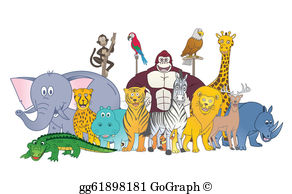 Group Of Animals Clip Art.