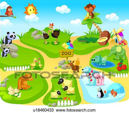 Group of zoo animals clipart 6 » Clipart Portal.