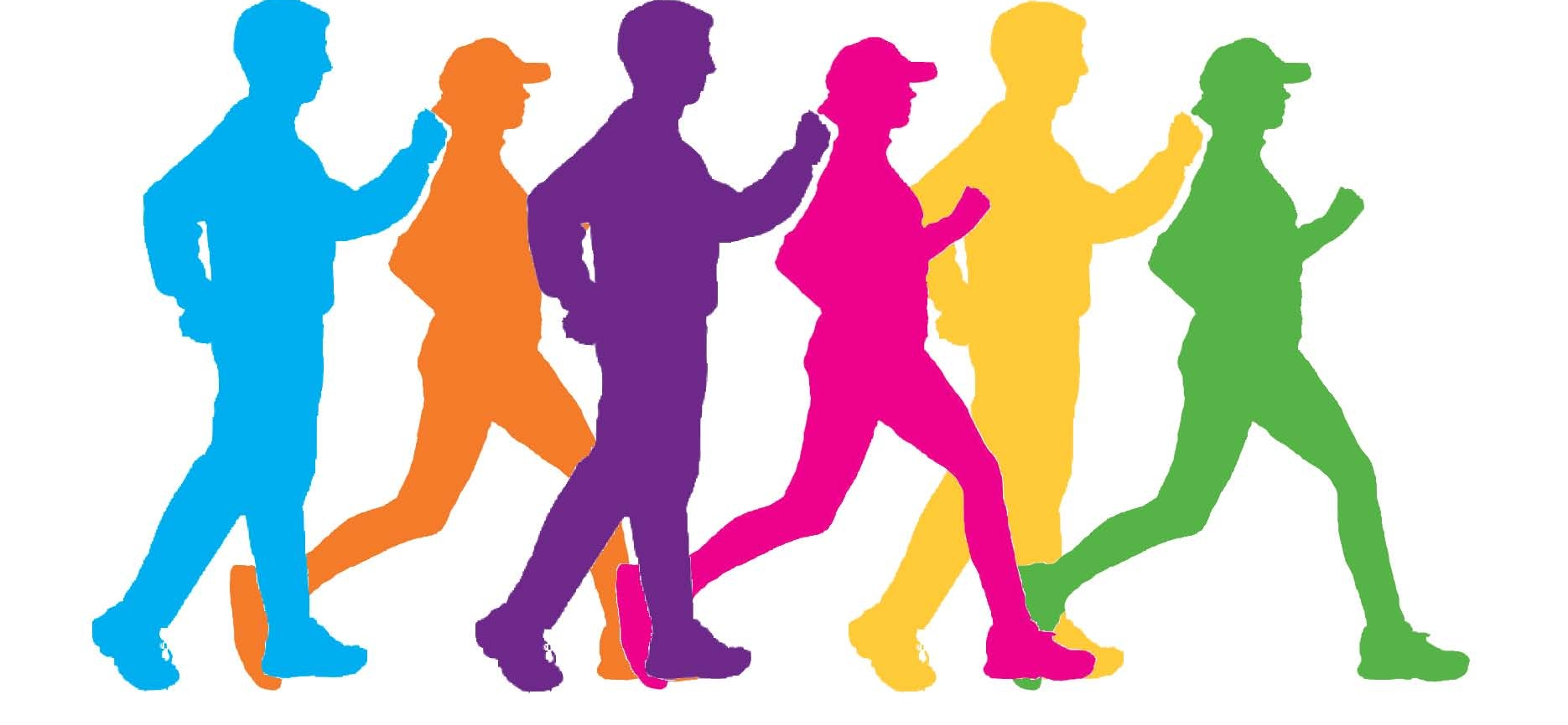 Group Walking Clipart.
