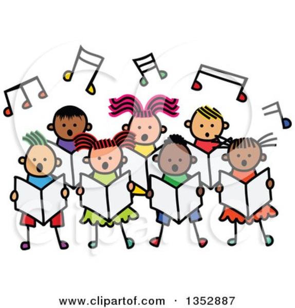 Quartet Singing Group Clipart.