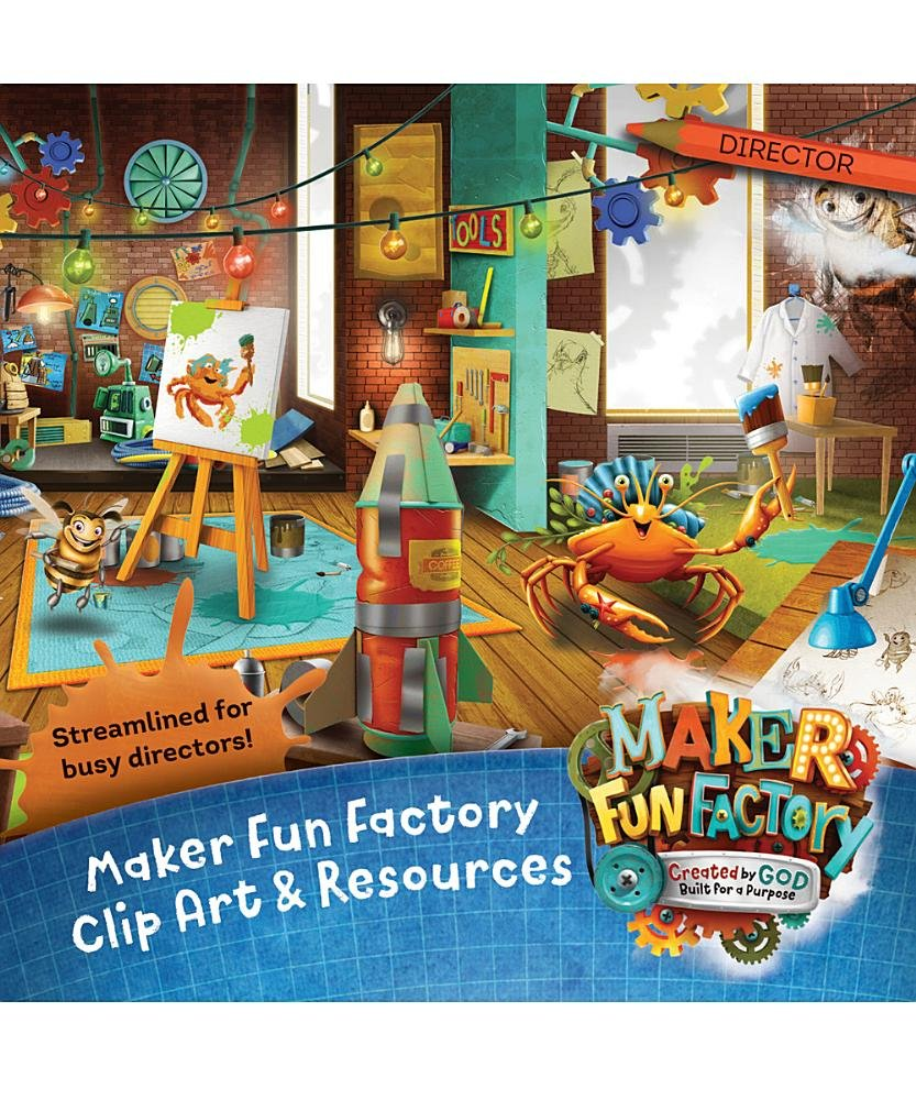 Maker Fun Factory Clip Art & Resources CD (Group Easy Vbs.