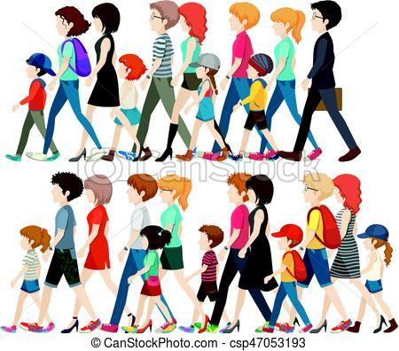 Group walking clipart 8 » Clipart Portal.