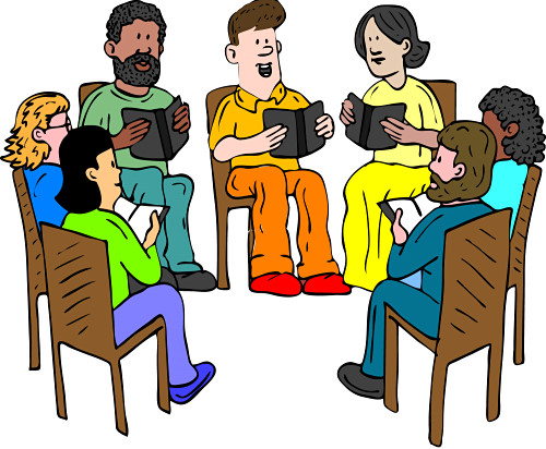 Reading group clip art.