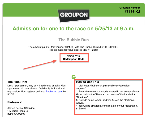 Groupon Promo Code.