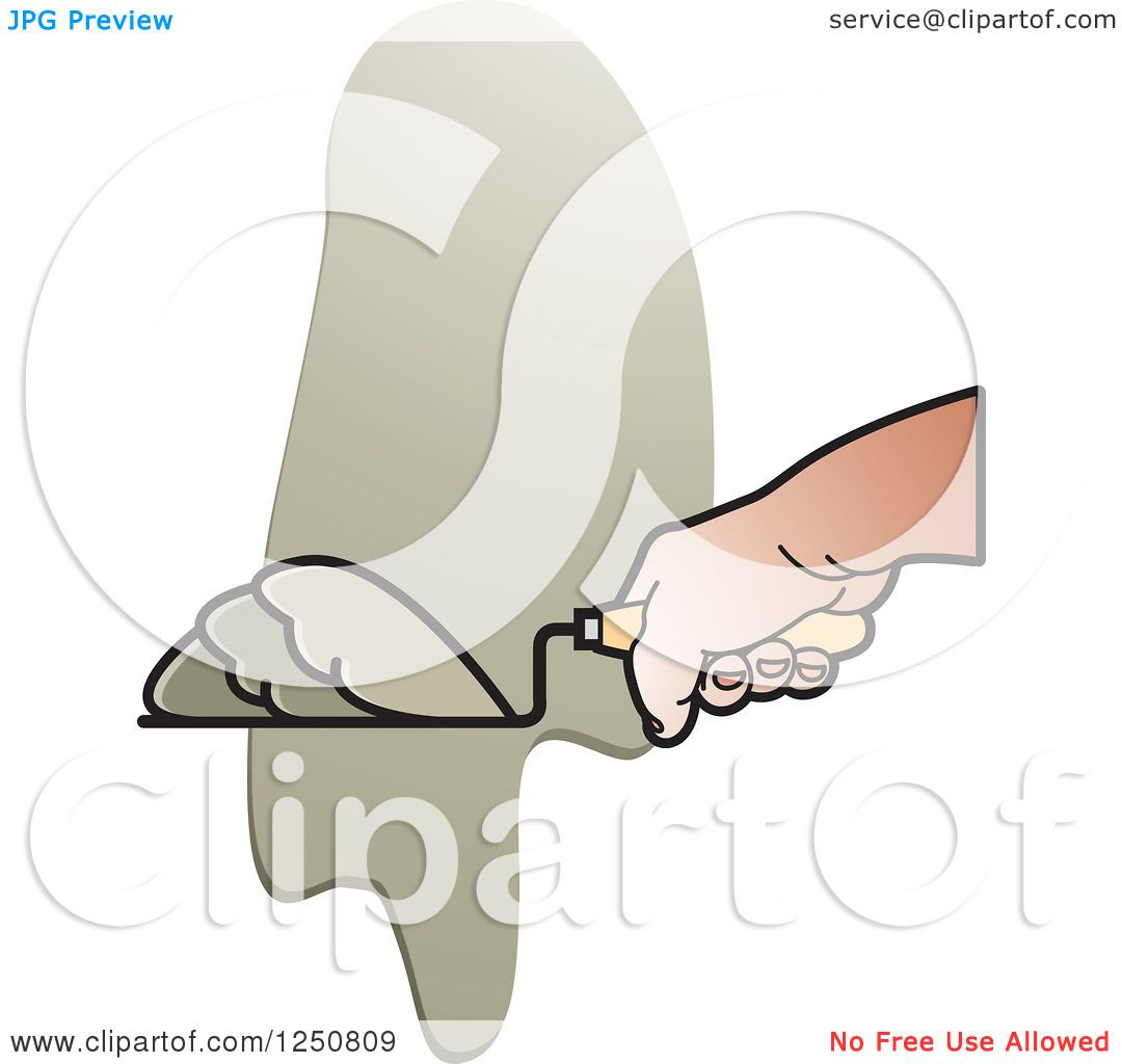 Clipart of a Mason Hand and Grout or Mortar.