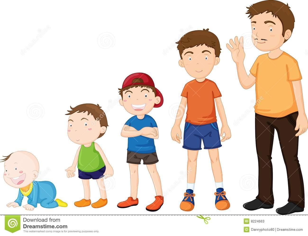 Growing Children Clipart.