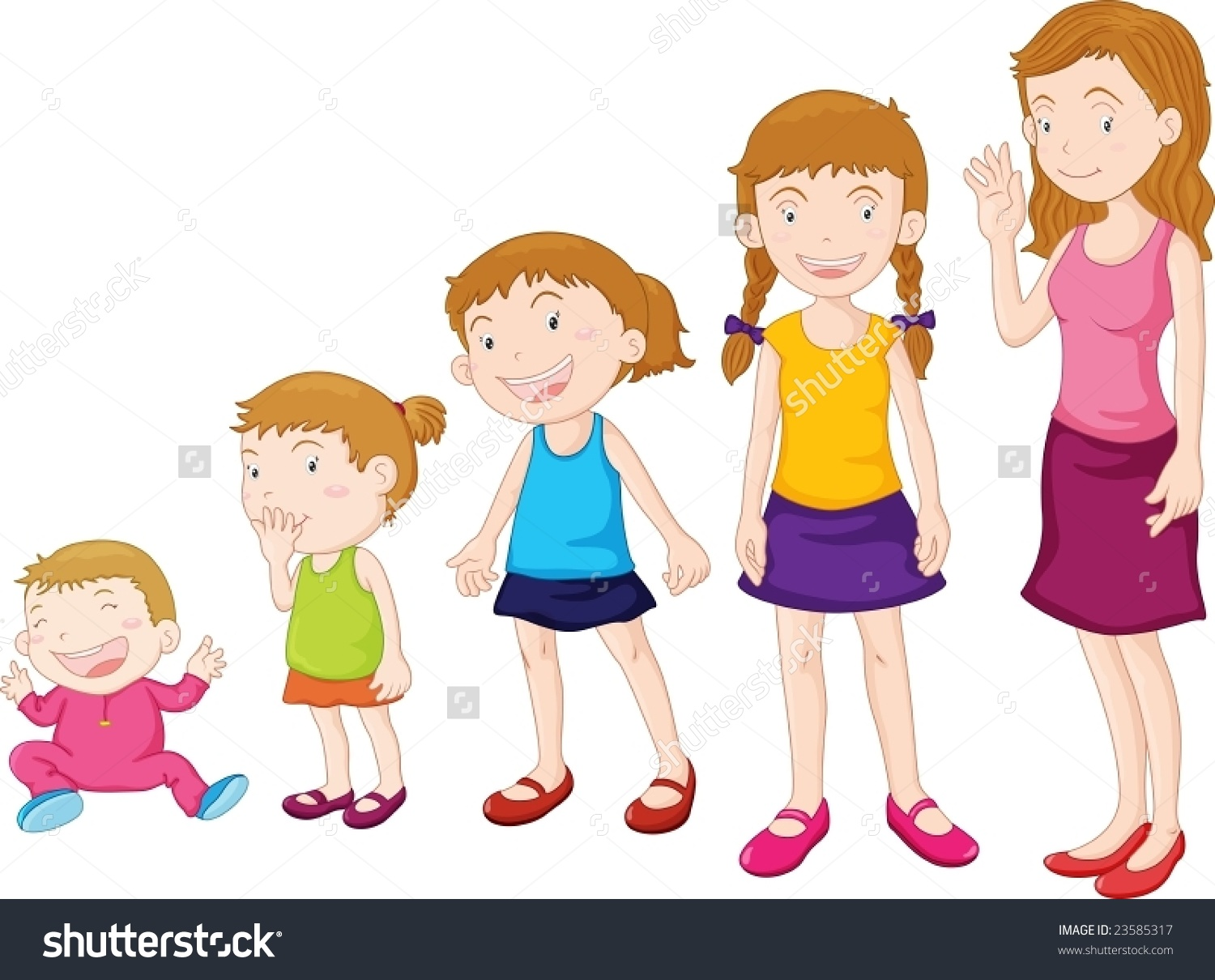Child growing clipart.