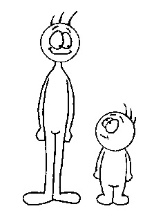 Growing Taller Clip Art.